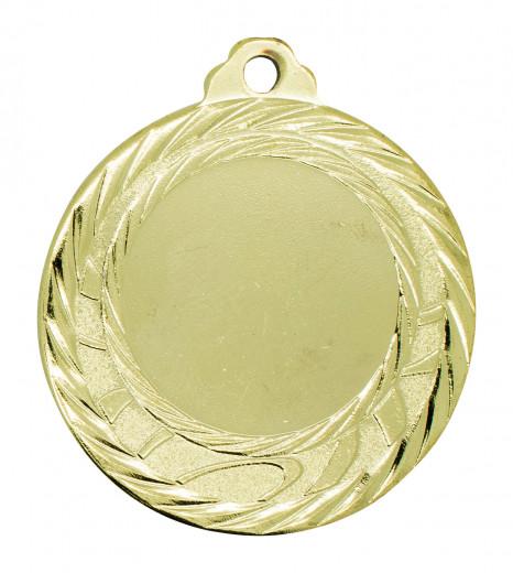 """Medaille """"Olympia"""" Ø 40mm mit Wunschemblem und Band gold"""