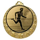 """Lauf Medaille """"Brixia"""" Ø 32mm mit Wunschemblem und Band gold"""