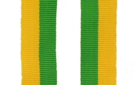 Band mit 2 Ösen gelb-grün