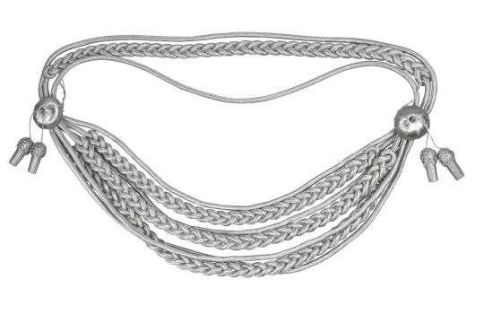 Königsschnur  (gold oder silber) silber