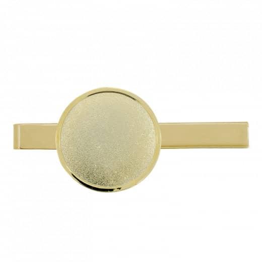 Krawattenklammer mit Auflage rund 32mm gold