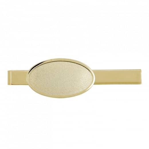 Krawattenklammer mit Auflage oval 35x20mm gold