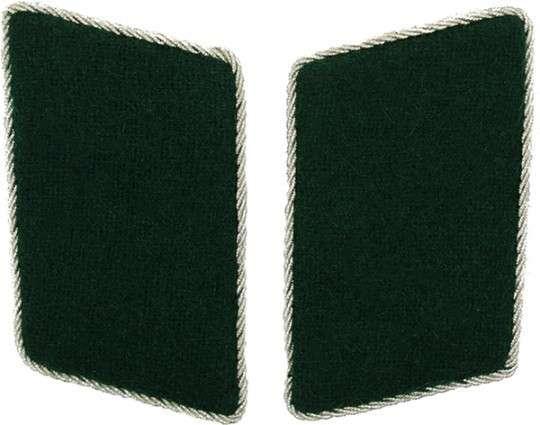 Kragenspiegel schützengrün silber