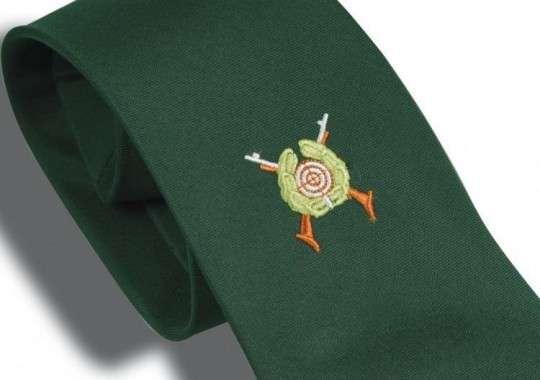 Schützenkrawatte mit gesticktem Emblem