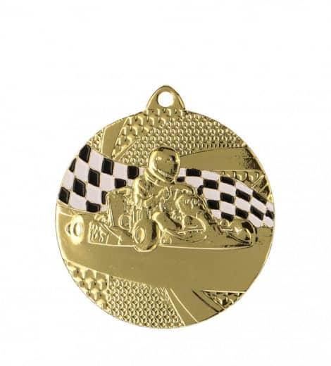 "Medaille ""Kart"" Ø 50mm mit Band1 Gold1"