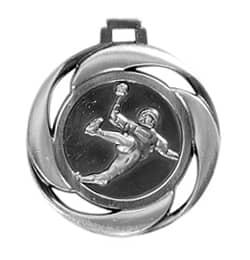 "Medaille ""Handball"" Ø 40mm mit Band Silber"