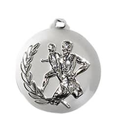 """Medaille """"Laufen"""" Ø 50mm silber mit Band Silber"""