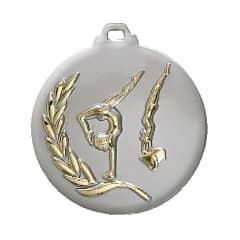 "Medaille ""Turnen"" Ø 50mm silber mit Band Gold"
