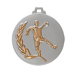 "Medaille ""Handball"" Ø 50mm silber mit Band Bronze"