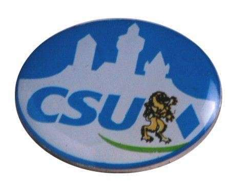 """Pins Offsetdruck """"CSU"""""""