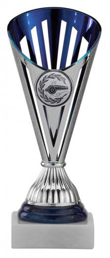 Handballpokale 3er Serie A311-HA silber/blau 18 cm