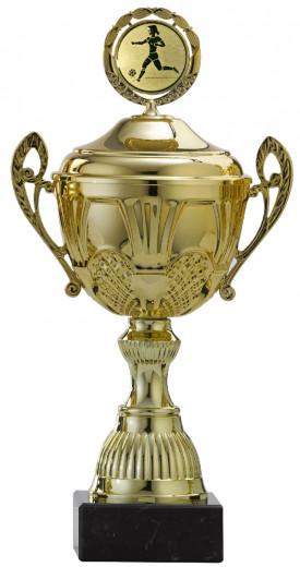 Pokale 12er Serie S765 gold mit Deckel 26 cm