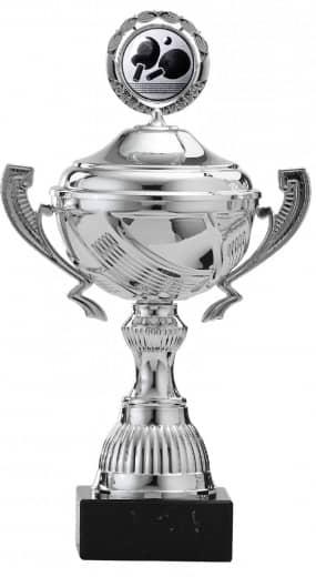Pokale 12er Serie S767 silber mit Deckel 25 cm