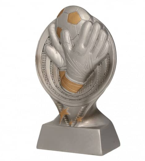 Handschuhe mit Fußball TRY-RS2301 silber gold