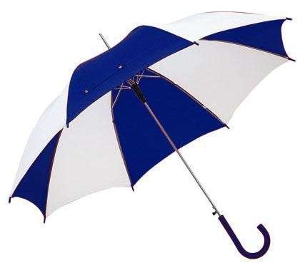 Regenschirm Automatik blau/weiß