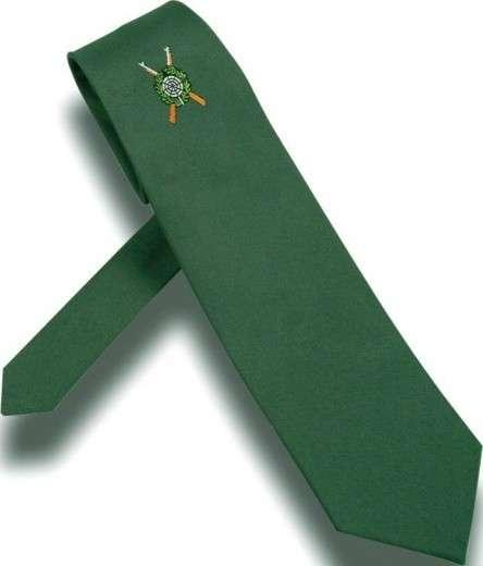 Schützenkrawatte extra lang mit gewebtem Emblem