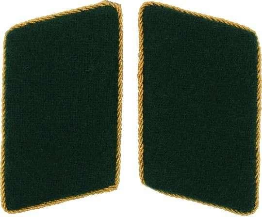 Kragenspiegel schützengrün gold