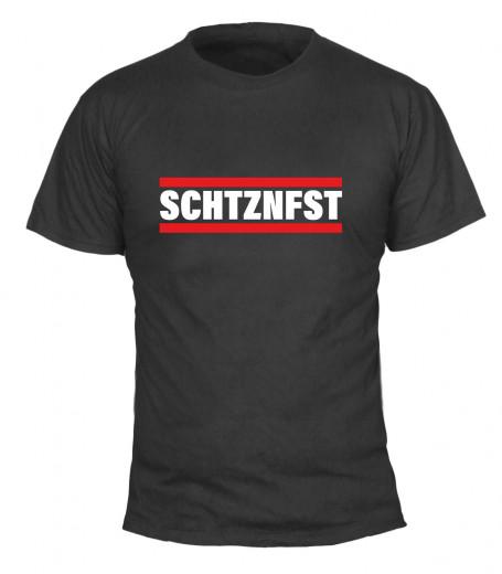 "T-Shirt ""SCHTZNFST"" - Herren Schwarz | XS"