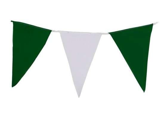 Wimpelkette grün-weiß XXL EXTRA GROßE WIMPEL (Meterware)