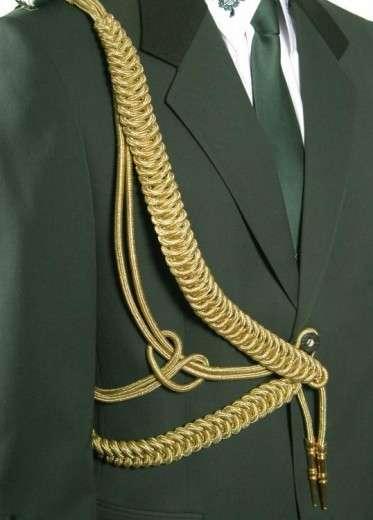 Fangschnur 2 Breitgeflechte (gold oder silber) gold