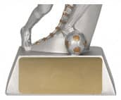 Fußballer Figur TRY-RP2007 silber gold