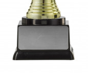 """Figurpokal """"Helm"""" PF353.1-M60 gold/schwarz 13,1cm"""