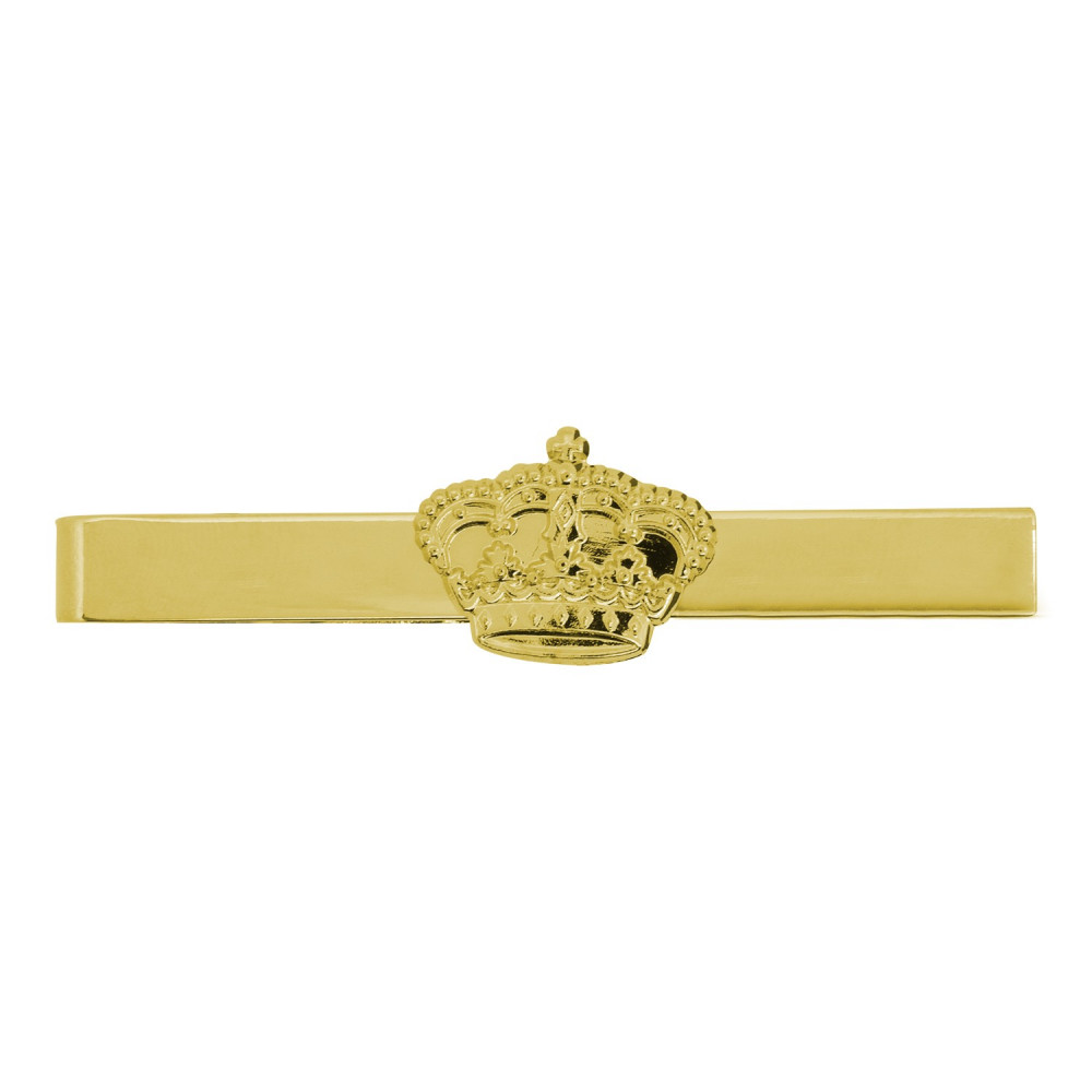 Krawattenklammer vergoldet mit Krone vergoldet