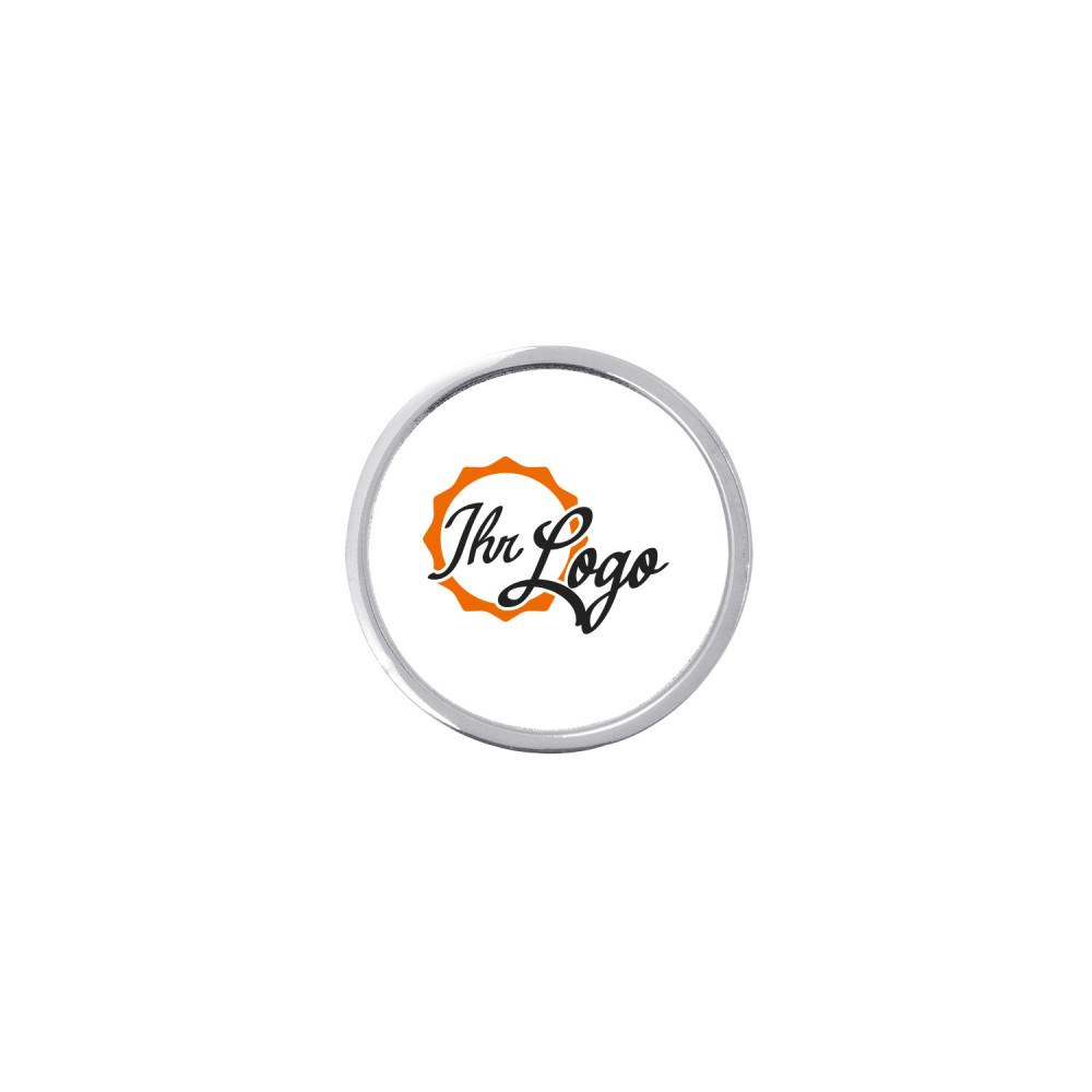 Expresspin rund 25 mm mit Ihrem Logo silber