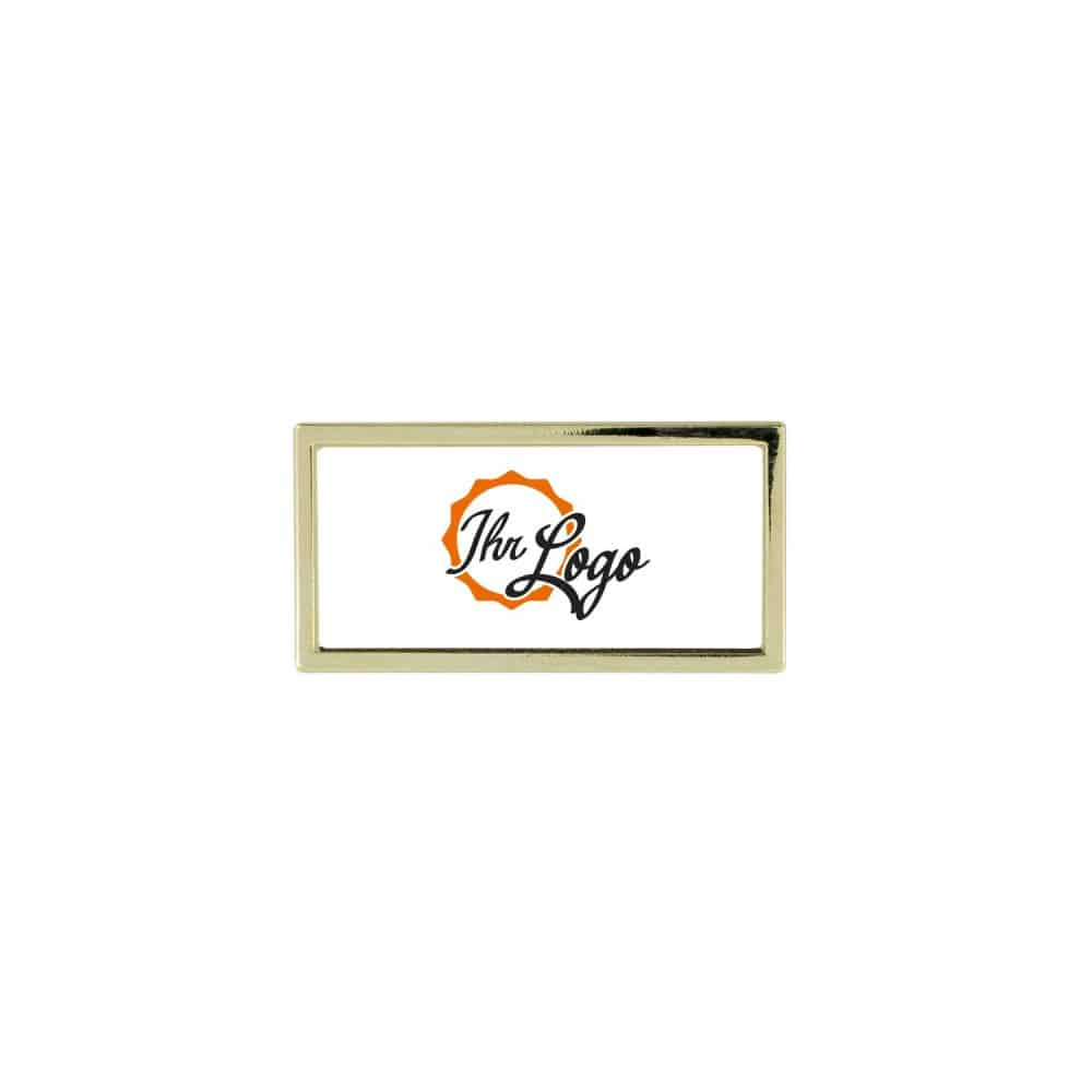 Expr 6g(1) Expresspins Expresspin rechteckig 30mm x 15mm- selbst gestalten gold