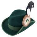Schützenhut dunkelgrün mit breiter Krempe