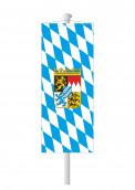 Bayernbannerfahne 3 Bayernfahnen Bayern-Bannerfahne mit Wappen (Raute)