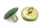 Schützenknopf 17mm mit Öse grün