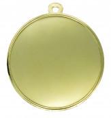 """Medaille """"Cortona"""" Ø 70mm mit Wunschemblem und Band gold"""