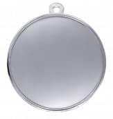 """Medaille """"Cortona"""" Ø 70mm mit Wunschemblem und Band silber"""