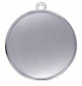 """Medaille """"Singos"""" Ø 40mm mit Wunschemblem und Band silber"""