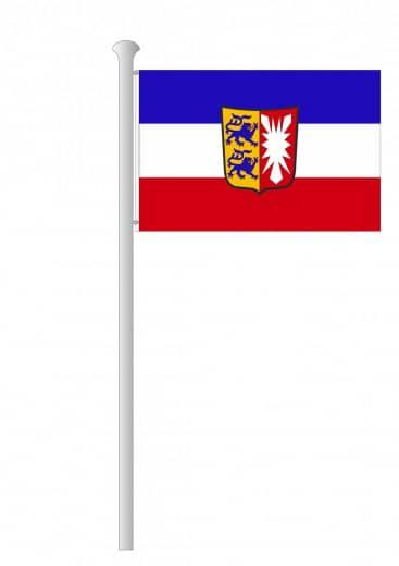Schleswig Holstein Hissflagge Quer Mit Wappen Bei Deitert Sf Sch Hq W