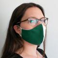 Wiederverwendbare Mund- und Nasenmaske grün-weiß - für Damen & Kinder