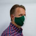 Wiederverwendbare Mund- und Nasenmaske grün-weiß - bedruckbar - für Herren