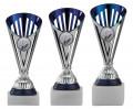 Bowlingpokale 3er Serie A311-BOW silber/blau