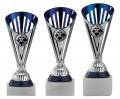 Pokerpokale 3er Serie A311-POK silber/blau