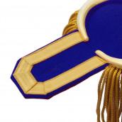 Epauletten gold mit Fransen und blauen Filz