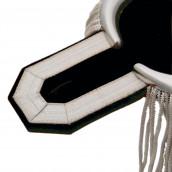Epauletten silber (ein Paar) mit Fransen silber-schwarz