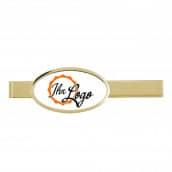 Krawattenklammer mit Auflage oval 35x20mm silber