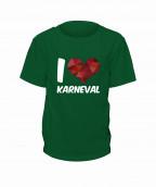 "T-Shirt ""I Love Karneval"" - Kinder"