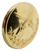 Schützenknopf 24mm mit Öse vergoldet