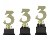 "Figurpokal ""Drei"" PF352.3-M60 gold 13,1cm"