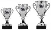 Pokale mit Henkel 3er Serie A102 silber 12 cm