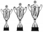 Pokale mit Henkel 3er Serie S968 mit Deckel 68 cm
