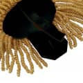 Epauletten gold (ein Paar) mit Raupen gold-schwarz