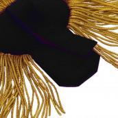 Epauletten gold mit Fransen und schwarzen Filz